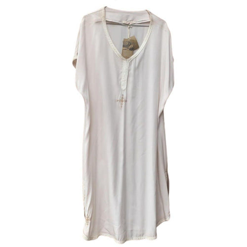 Classic Moroccan Short Sleeve Women's Tunic, Free size (S-L) - Eve Branson Foundation Collection Clothing & Shoes