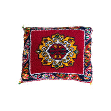 Load image into Gallery viewer, Classic Vintage Moroccan Red Throw Pillow - Handwoven Wool Home Decor