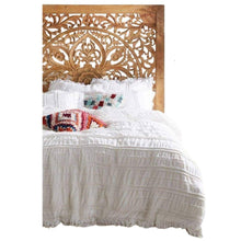 Load image into Gallery viewer, Hand Carved Moroccan Wood Filigree Bed Frame Furniture