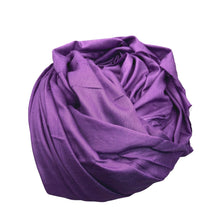Load image into Gallery viewer, Hand-Dyed Purple Berber Tagelmust Head Scarf Clothing & Shoes