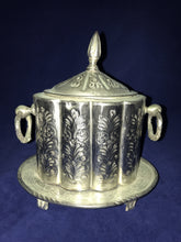 Load image into Gallery viewer, Handmade Moroccan Silver Tea Container