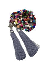 Load image into Gallery viewer, Handmade Silk Knot Moroccan Belt With Hamsa - Grey Bags & Purses
