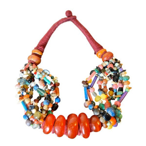 Huge Moroccan Copal Resin Beaded Necklace