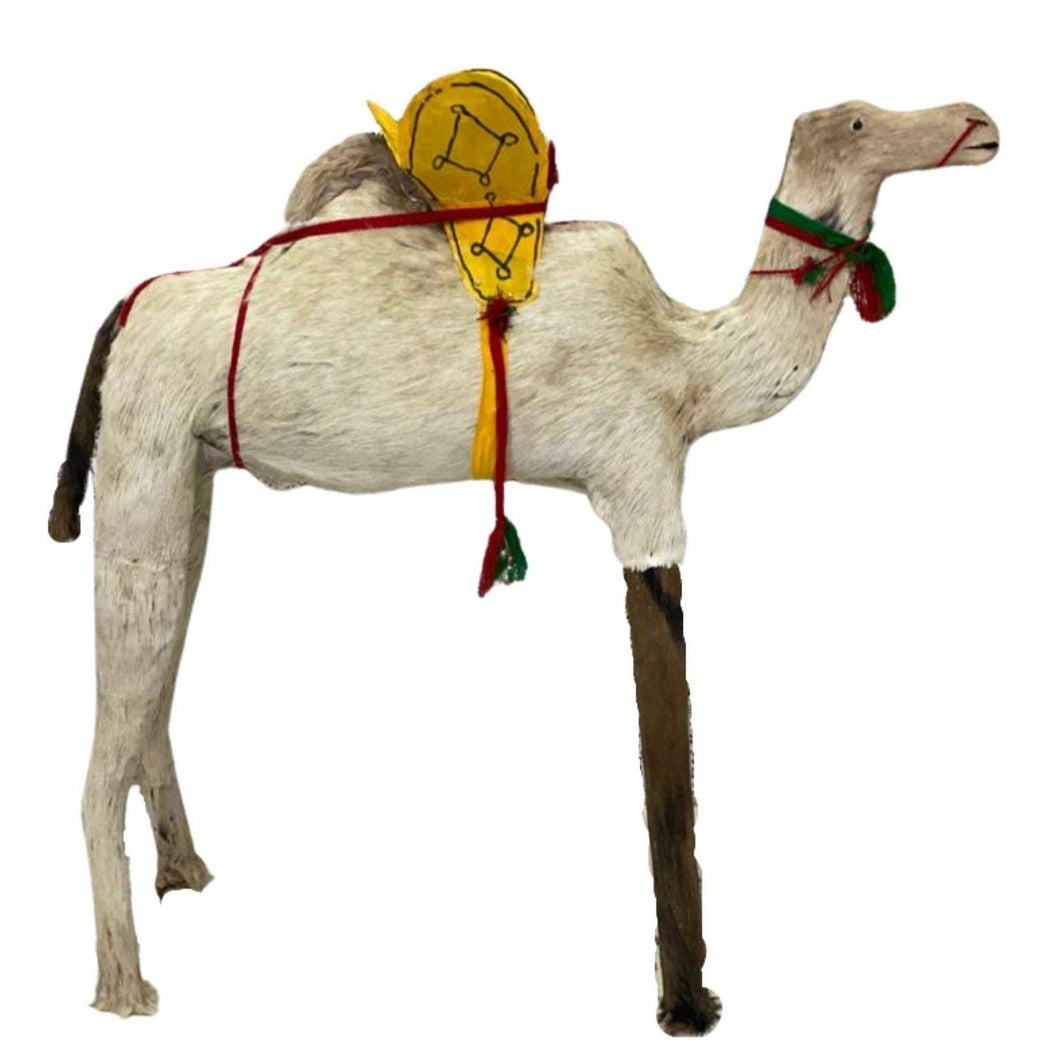 Large Handmade Moroccan Camel Sculpture Home Decor