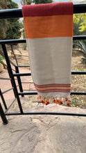 Load image into Gallery viewer, Lightweight Hammam Towel - Eve Branson Foundation Collection Clothing & ShoesOrange & Red