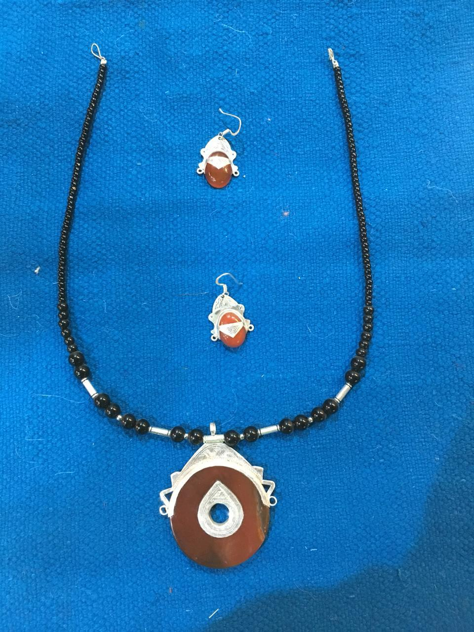 Moroccan Agate Tuareg Jewelry Set Special Order