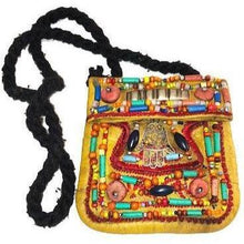Load image into Gallery viewer, Moroccan Berber Beaded Leather Purse - Hamsa Tan Small Bags & Purses