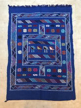Load image into Gallery viewer, Moroccan Berber Rug - Blue Birds Home Decor