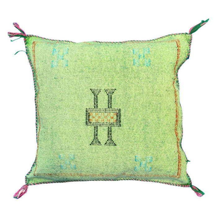 Moroccan Cactus Silk Throw Pillow - Mint Green 15