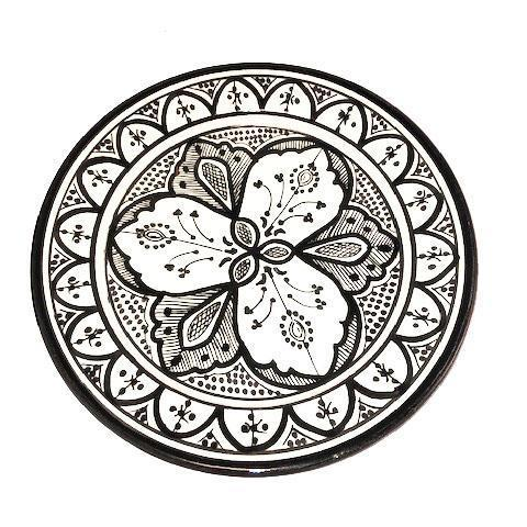 Moroccan Ceramic Dinner Plate - 10