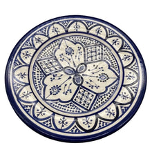 "Load image into Gallery viewer, Moroccan Ceramic Salad Plate - 8.5"" Handpainted Blue Tableware"