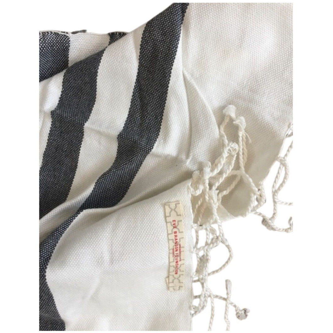 Moroccan Cotton Lightweight Hammam Towel - Eve Branson Foundation Collection Home Decor