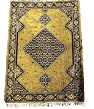 Load image into Gallery viewer, Moroccan Gold Velvet Area Rug - 7 x 10 Rabat Style Home Decor