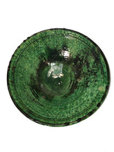 "Load image into Gallery viewer, Moroccan Green Tamegroute Pottery - 11"" Deep Footed Bowl Tableware"