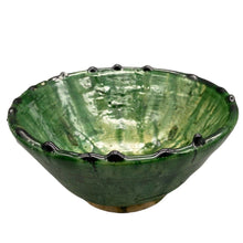 "Load image into Gallery viewer, Moroccan Green Tamegroute Pottery - 6"" Bowl Tableware"