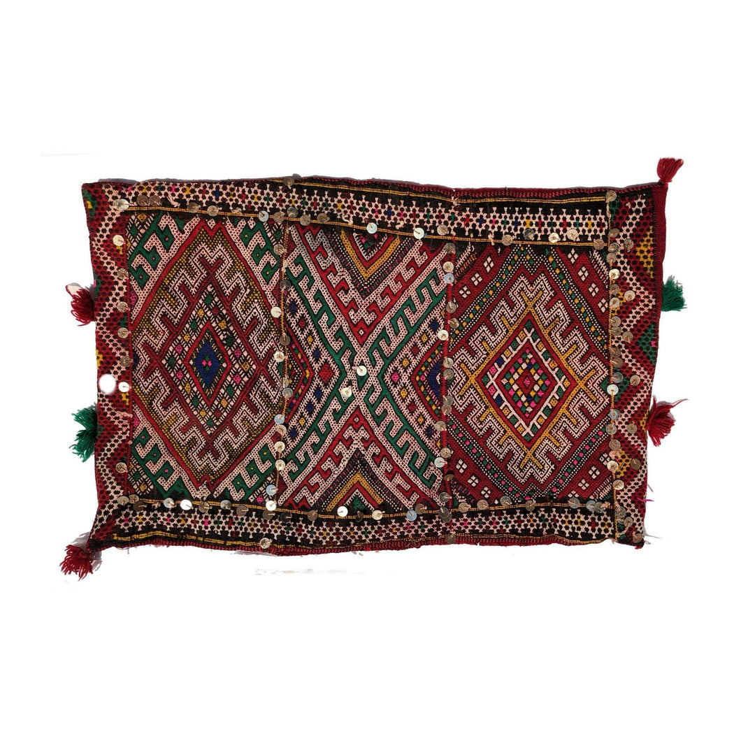 Moroccan Kilim Throw Pillow - Sequin Lozenges Home Decor