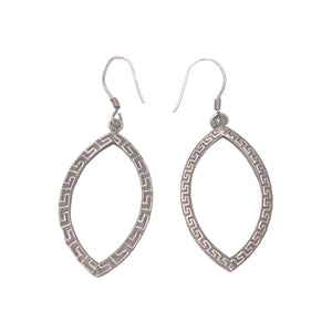 Moroccan Silver Almond Drop Earrings