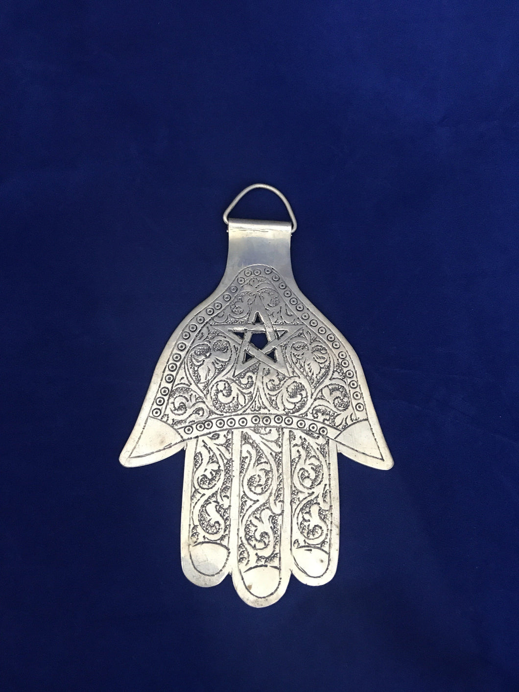 Moroccan Silver Hamsa Wall Decor Home Decor