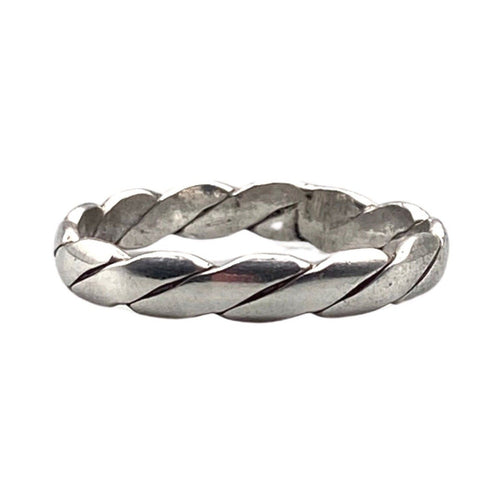 Moroccan Sterling Silver Braided Band Ring Rings