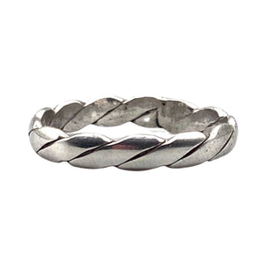 Moroccan Sterling Silver Braided Band Ring