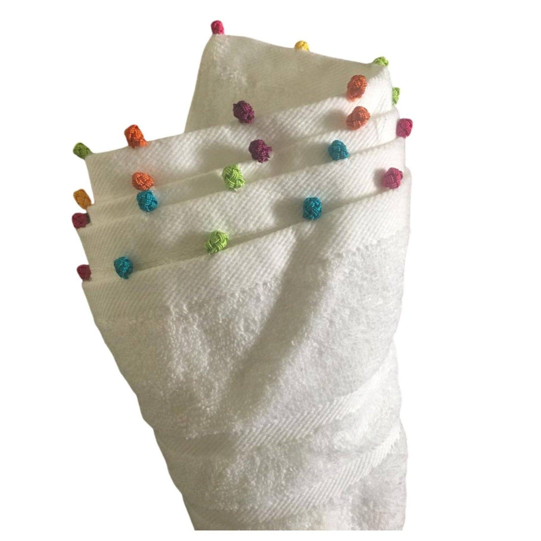 Pompom Hand Towel - Eve Branson Foundation Collection Home Decor