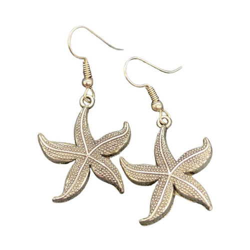 Silver Starfish Earrings Jewelry