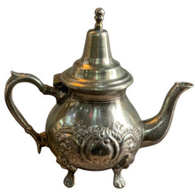 Load image into Gallery viewer, Stamped Silver Plated Moroccan Teapot - Vintage Alouar Te Hazem Tableware
