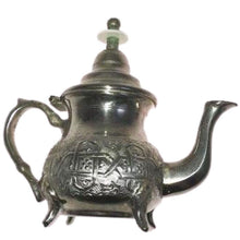 Load image into Gallery viewer, Stamped Silver Plated Moroccan Teapot - Vintage Bennani Freres Tableware