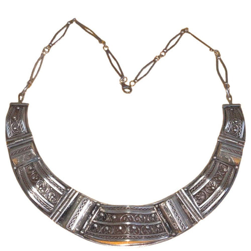 Sterling Silver Moroccan Berber Collar Necklace Necklace