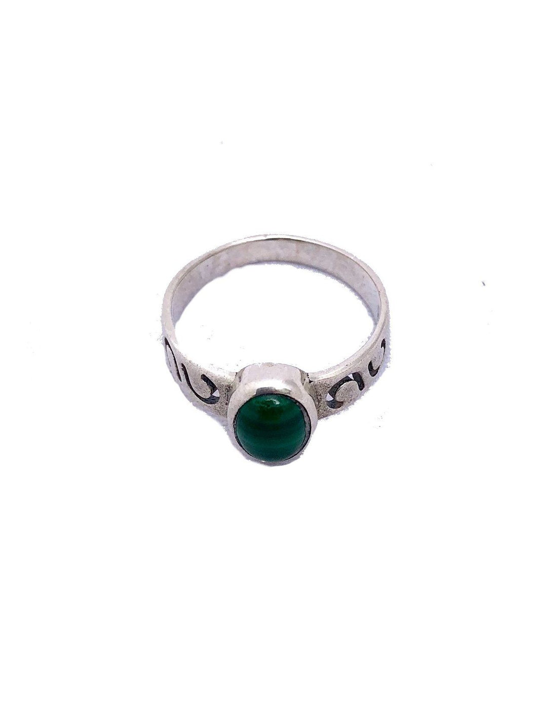 Sterling Silver Moroccan Berber Ring - Malachite Rings