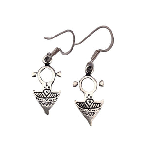 Sterling Silver Tuareg Cross Drop Earrings