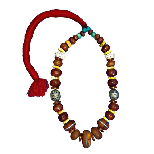 Vintage Moroccan Berber Necklace with Tagemout Egg Necklace