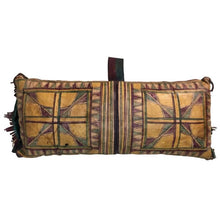 Load image into Gallery viewer, Vintage Moroccan Tuareg Naturally Dyed Leather Camel Saddle Pillow Home Decor
