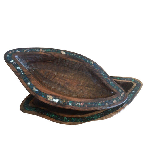 Walnut & Gemstone Bowl (small) - Eve Branson Foundation Collection Home Decor