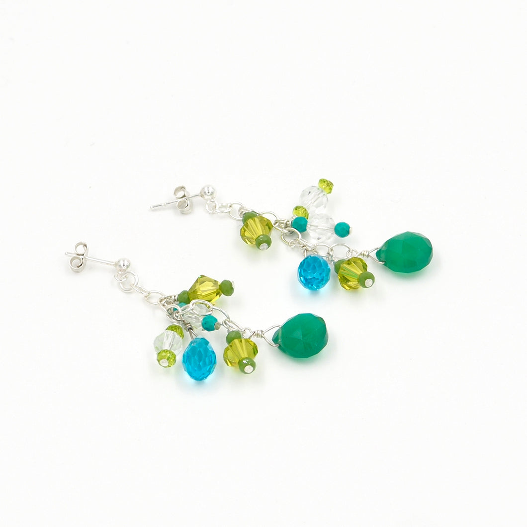 Emerald Jungle Earrings (small)