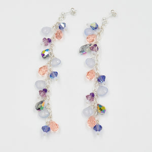Lavender Comet Leaf Earrings