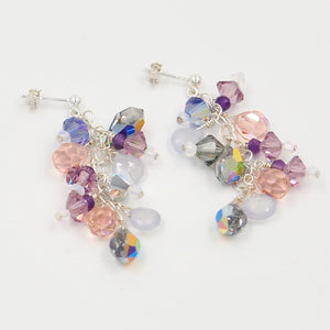Lavender Comet Leaf Earrings (small)