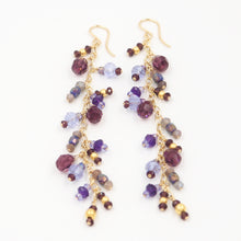 Plum Comet Earrings