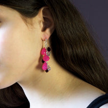 Fuchsia Orchid Earrings