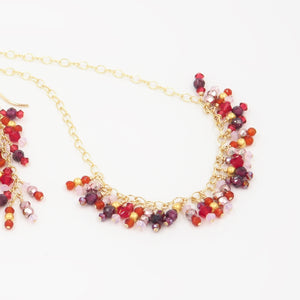 Fringe Necklace in Flame