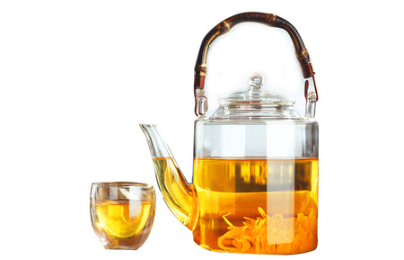 Bamboo bridge tea pot