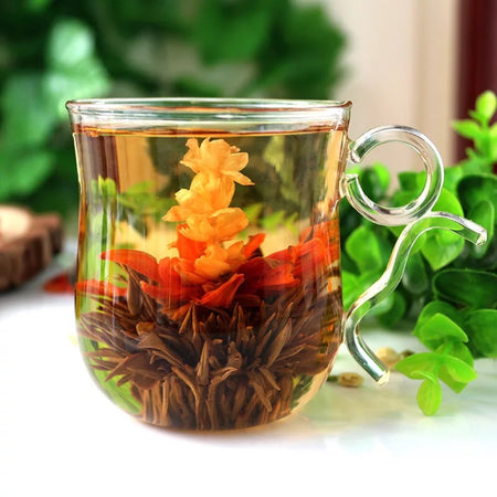Natural Flavors of Blooming Flower Tea