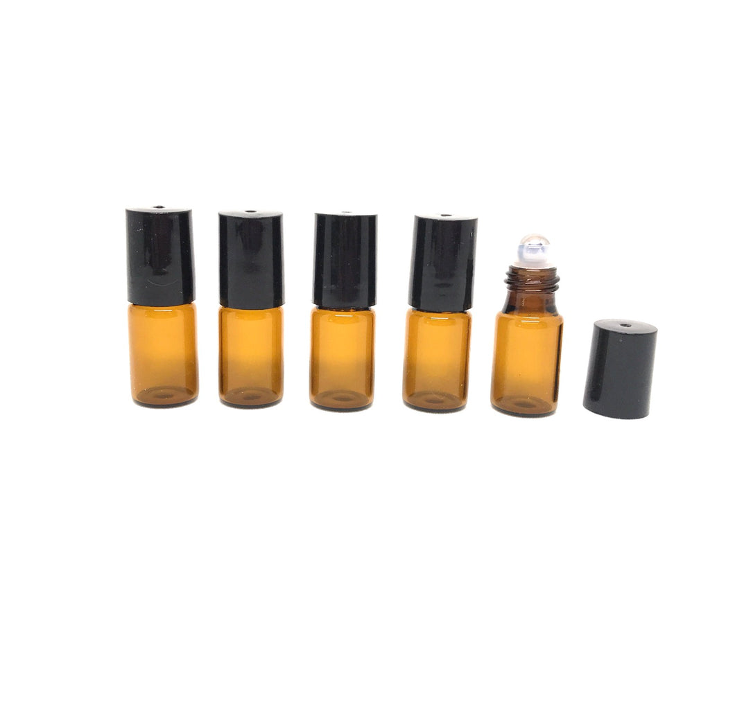 G001I 3ml Roller Bottle Metal Head (Pack of 5)