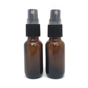 G021 15ml Amber Glass Spray Bottle (Pack of 2)