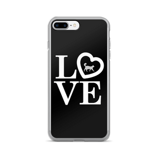 B&W Love iPhone Case