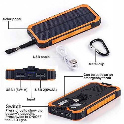 Dual USB Port  LED Flashlight Portable Charger Backup Power Pack,,PowerBank - iGadgetfied