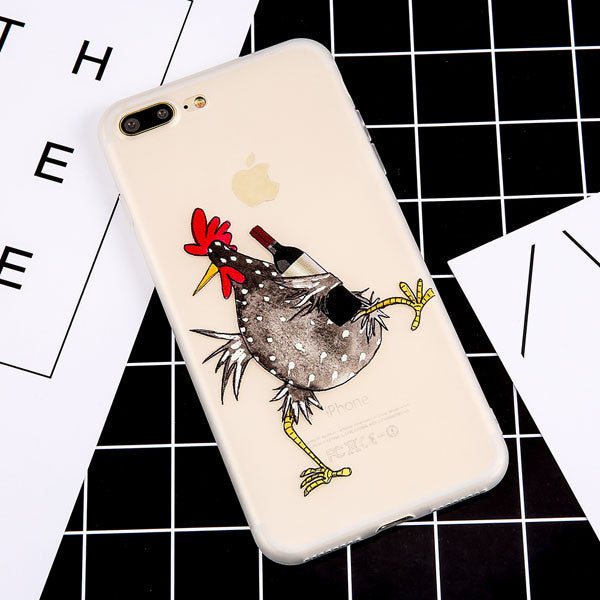 Cartoon Rooster Case For iPhone Models,Case - iGadgetfied