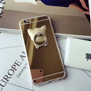 Cat Ring Mirror iPhone Case