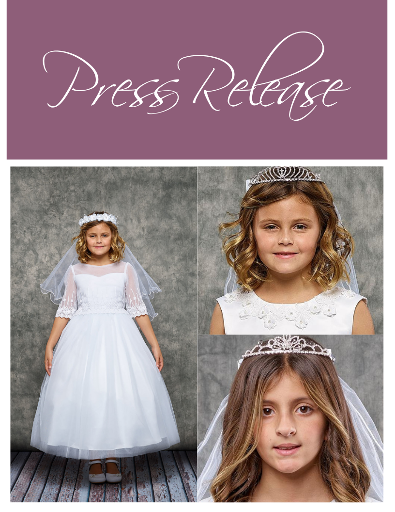 Family-Owned Dress Company, Kid's Dream Launches Online Shop for First Communion Season