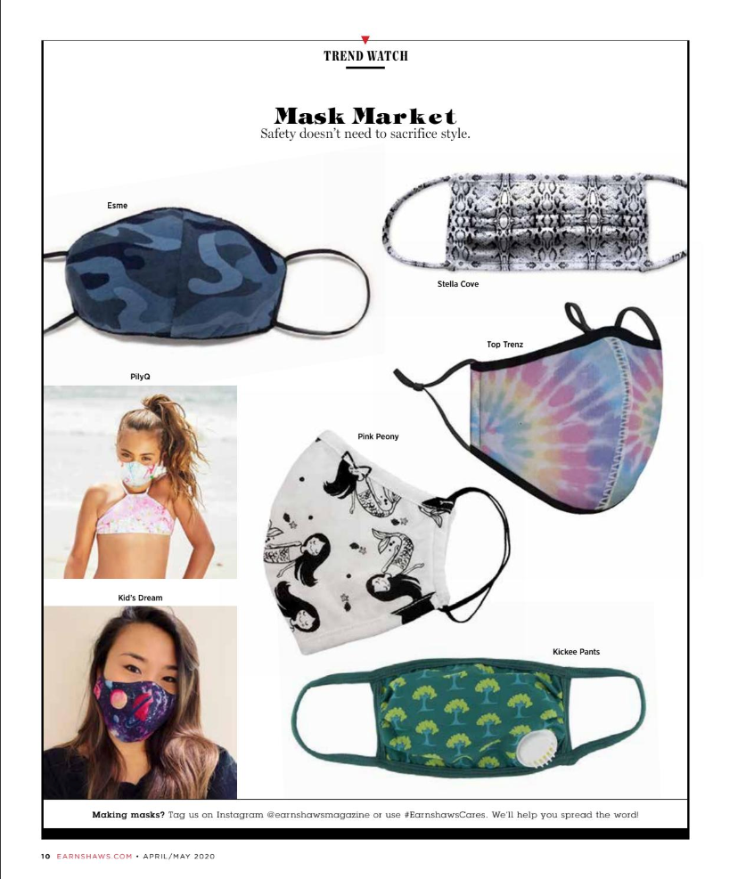 Mask Feature in Earnshaw's Magazine April/May Issue